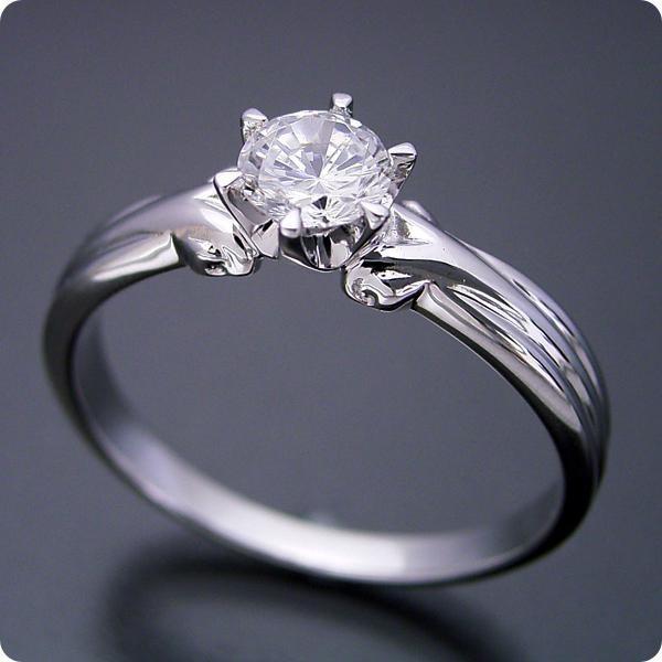 20万円婚約指輪エンゲージリング0.3カラット一粒0.3ctダイヤモンドブライダルジュエリープラチナ結婚指輪マリッジリングアームの処理が新しい婚約