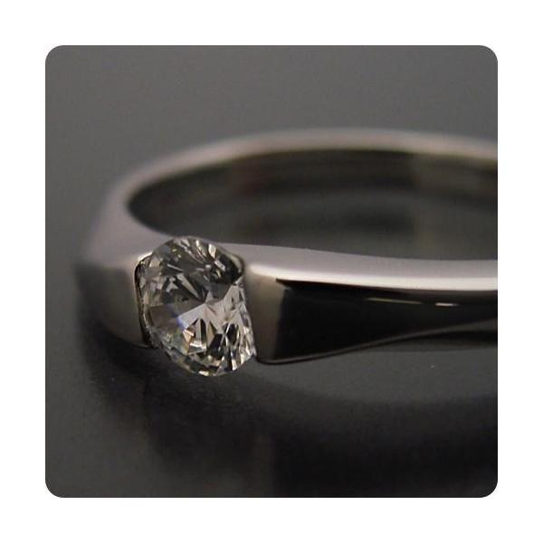 婚約指輪エンゲージリング0.3カラット一粒0.3ctダイヤモンドブライダルジュエリープラチナ結婚指輪マリッジリングもの凄くスタイリッシュなデザイン