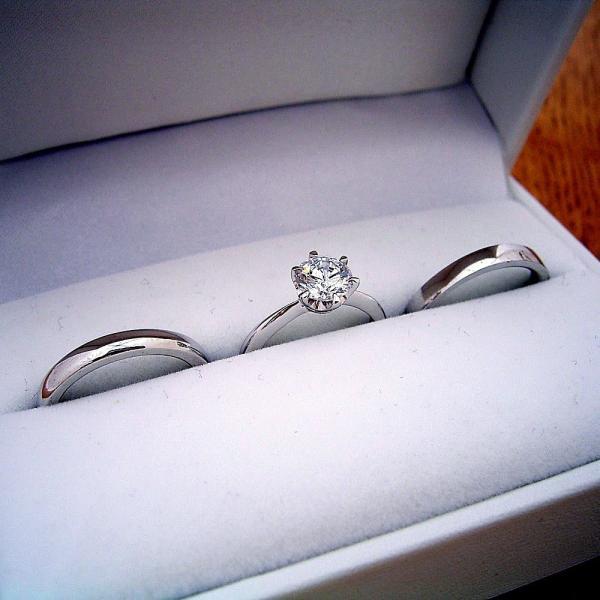 pretty nice 3cd21 cd202 1万円 1カラット 婚約指輪 結婚指輪 ペアリング ティファニー ...