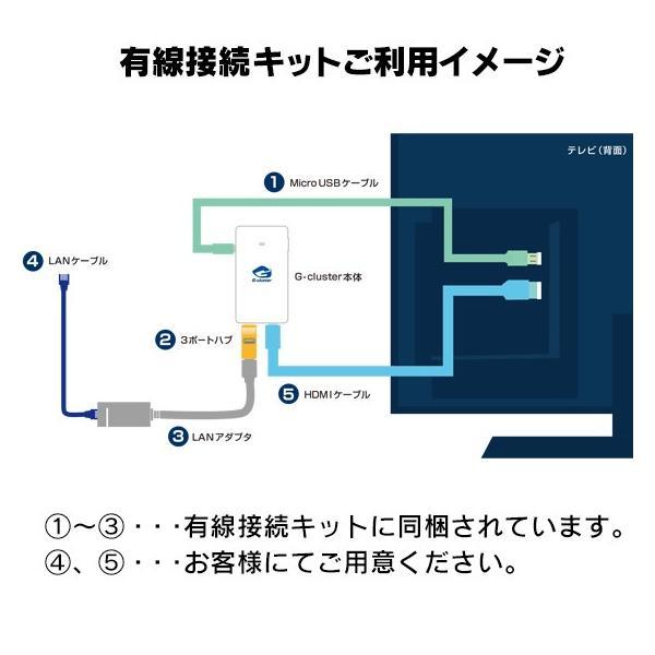 G-cluster(ジークラスタ)有線接続キット broadmedia 03