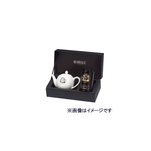 マリアージュ フレール 紅茶とポットの贈り物 マルコ ポーロ 100g缶入り、ロゴ プチ ティーポット[GS80]