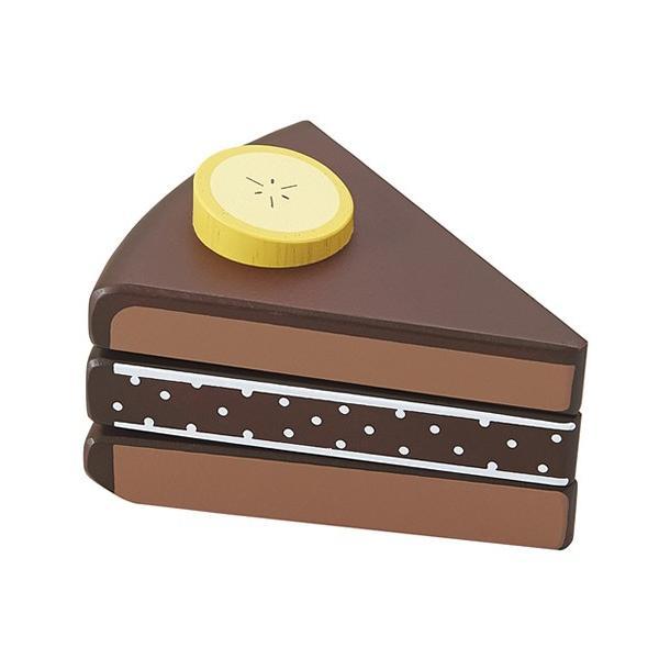 チョコバナナケーキ エド・インター 木のおもちゃ サクサク食材マジックテープ