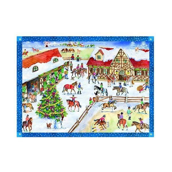 アドベントカレンダー・乗馬 クリスマス装飾品
