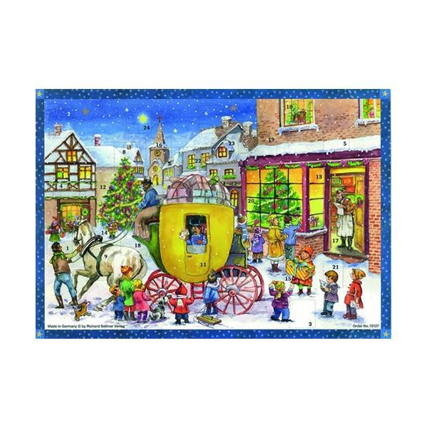 アドベントカレンダー・馬車の郵便屋さん クリスマス装飾品