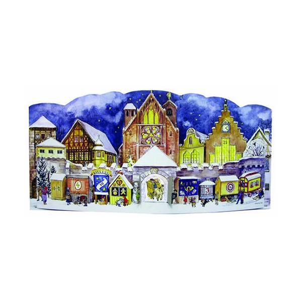 立体アドベントカレンダー・華やぐ教会 クリスマス装飾品