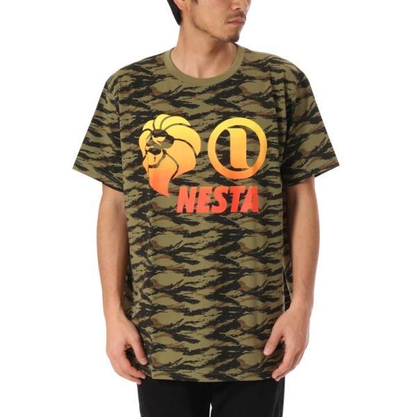 NESTA BRAND ネスタブランド 半袖Tシャツ 182NB1000 吸水速乾 グラデーション ベーシック ロゴ 半袖Tシャツ カモフラ