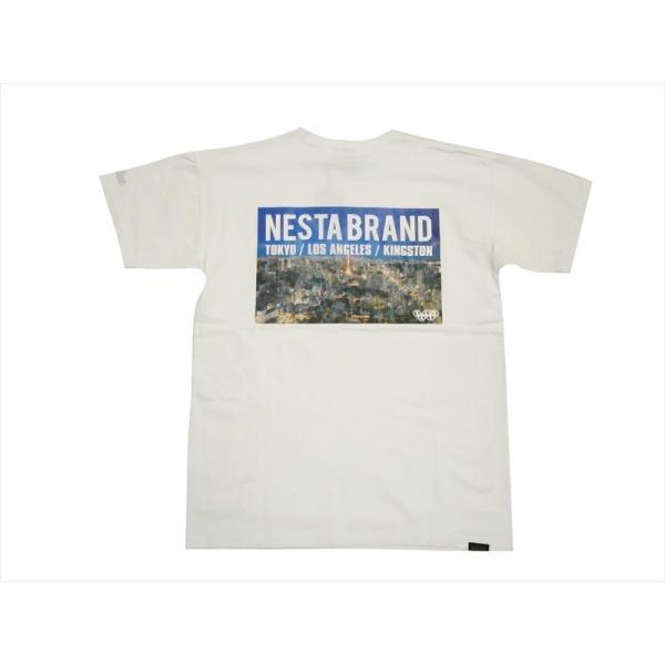NESTA BRAND ネスタブランド 半袖Tシャツ 202NB1000 ベア天 フォト Tシャツ ホワイト