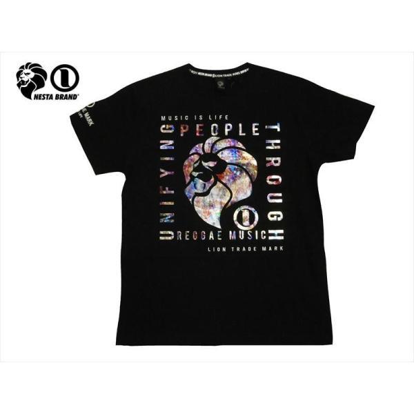 NESTA BRAND ネスタブランド 半袖Tシャツ 202NB1011 キラシート プリント 半袖Tシャツ ブラック