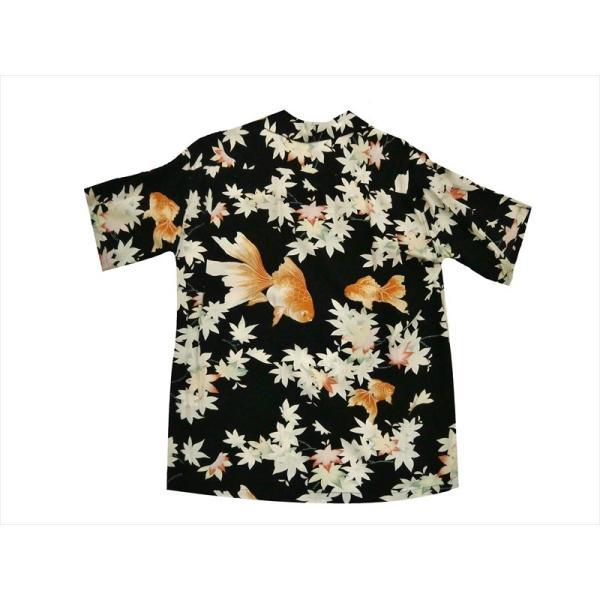 SUN SURF サンサーフ アロハシャツ SS37782 『JAPANESE MAPLE AND FANTAIL/金魚』レーヨン・半袖ハワイアンシャツ ブラック bros-clothing 04