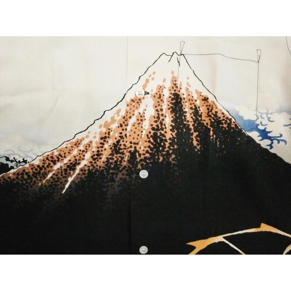 サンサーフ SUN SURF×北斎 SPECIAL EDITION 半袖アロハシャツ SS38197 山下白雨 レーヨン・ハワイアンシャツ オフホワイト|bros-clothing|04