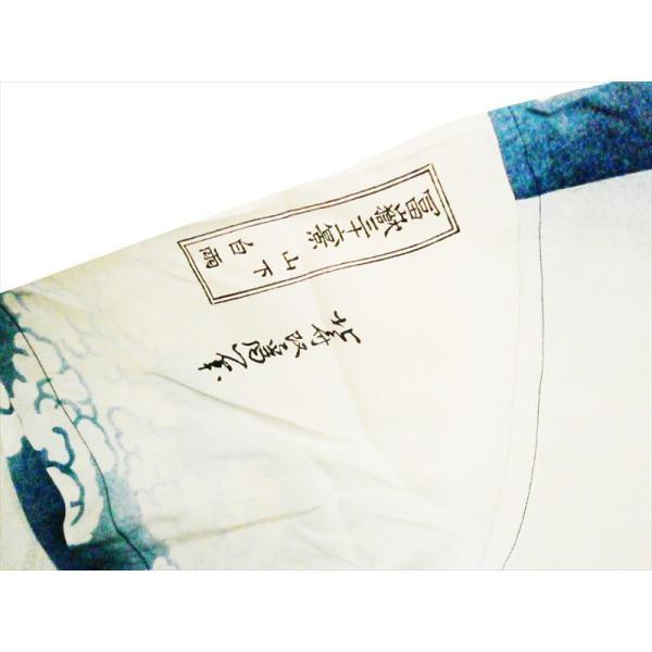サンサーフ SUN SURF×北斎 SPECIAL EDITION 半袖アロハシャツ SS38197 山下白雨 レーヨン・ハワイアンシャツ オフホワイト|bros-clothing|05