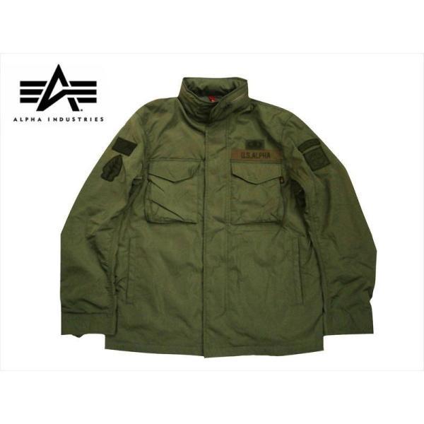 ALPHA/アルファ インダストリーズ TA1372 M-65 MOD PATCED FIELD JACKET/ライトウェイト パッチ M-65フィールドジャケット セージ|bros-clothing
