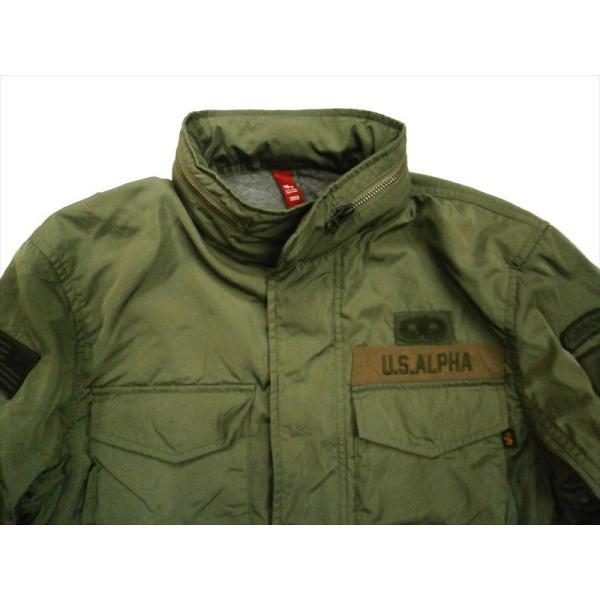ALPHA/アルファ インダストリーズ TA1372 M-65 MOD PATCED FIELD JACKET/ライトウェイト パッチ M-65フィールドジャケット セージ|bros-clothing|02