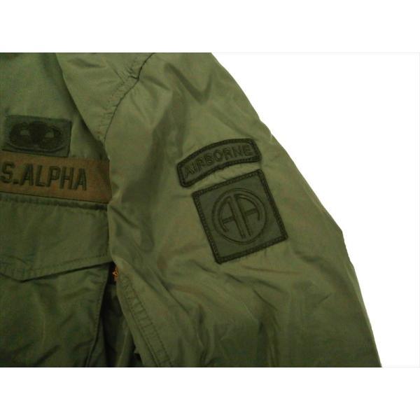 ALPHA/アルファ インダストリーズ TA1372 M-65 MOD PATCED FIELD JACKET/ライトウェイト パッチ M-65フィールドジャケット セージ|bros-clothing|04