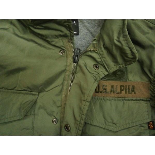 ALPHA/アルファ インダストリーズ TA1372 M-65 MOD PATCED FIELD JACKET/ライトウェイト パッチ M-65フィールドジャケット セージ|bros-clothing|05