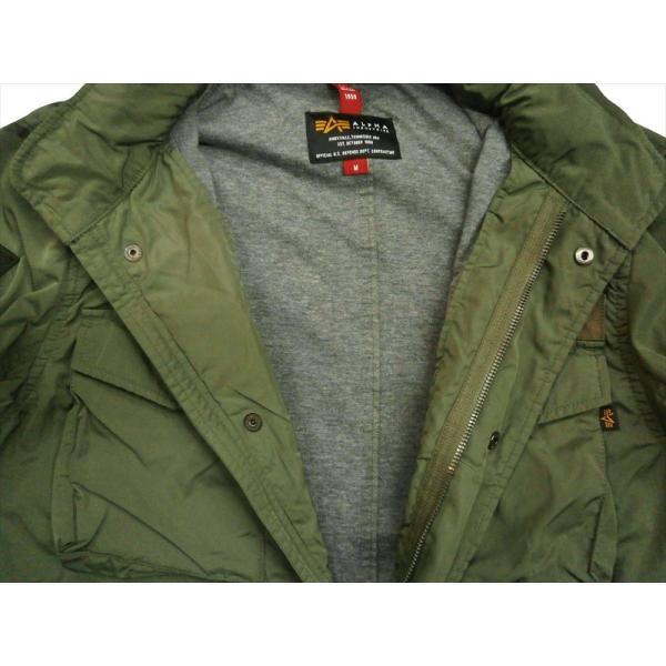 ALPHA/アルファ インダストリーズ TA1372 M-65 MOD PATCED FIELD JACKET/ライトウェイト パッチ M-65フィールドジャケット セージ|bros-clothing|06