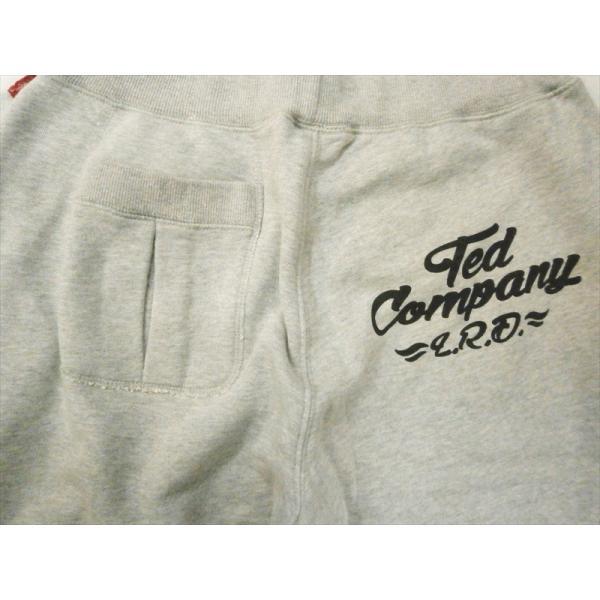 テッドマン TEDMAN・エフ商会 スウェットパンツ TSP-03 TED COMPANY 裏毛スウェットパンツ アッシュグレー|bros-clothing|04