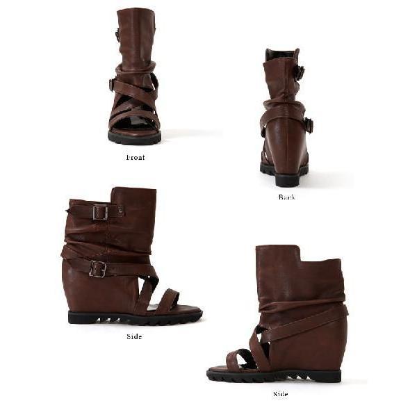 サンダル レディース  ブーツサンダル サマーブーツ ブーサン  靴 サンダル インヒール レディース |bsshop|03