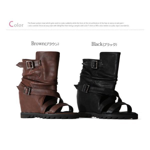 サンダル レディース  ブーツサンダル サマーブーツ ブーサン  靴 サンダル インヒール レディース |bsshop|06