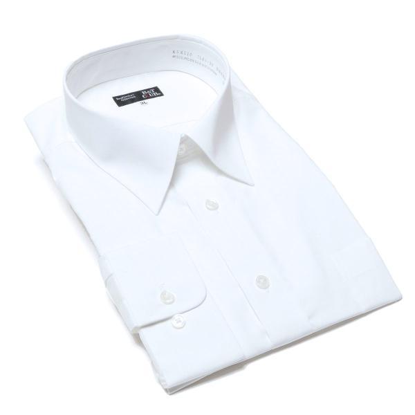 ワイシャツ 長袖 大きいサイズ メンズ レギュラーカラー 形態安定 白無地 3L-8L B&T CLUB|btclub|05