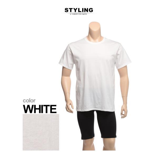 肌着 2枚セット 大きいサイズ メンズ Hanes ヘインズ 抗菌防臭 綿100% クルーネック 半袖 アンダーTシャツ 3L 4L btclub 03