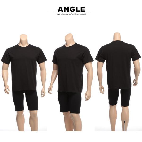 肌着 2枚セット 大きいサイズ メンズ Hanes ヘインズ 抗菌防臭 綿100% クルーネック 半袖 アンダーTシャツ 3L 4L btclub 05