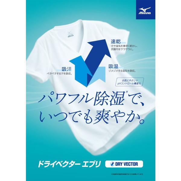 大きいサイズ メンズ MIZUNO  ミズノ  日本製 ドライベクター 吸湿速乾 抗菌防臭 Vネック  半袖  アンダーTシャツ 3L 4L 5L 6L|btclub|02