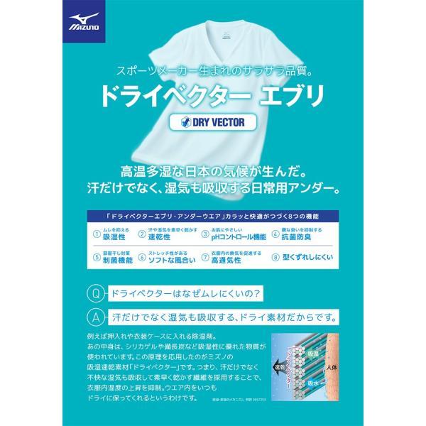 大きいサイズ メンズ MIZUNO  ミズノ  日本製 ドライベクター 吸湿速乾 抗菌防臭 Vネック  半袖  アンダーTシャツ 3L 4L 5L 6L|btclub|03
