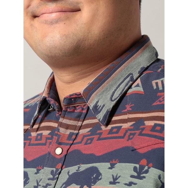 長袖シャツ 大きいサイズ メンズ アニマル総柄×ボーダー ジャガード カジュアル トップス シャツ POLO RALPH LAUREN btclub 03