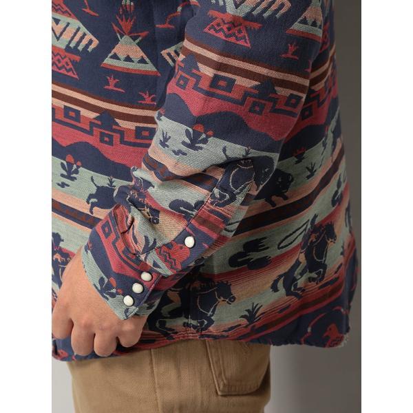 長袖シャツ 大きいサイズ メンズ アニマル総柄×ボーダー ジャガード カジュアル トップス シャツ POLO RALPH LAUREN btclub 04