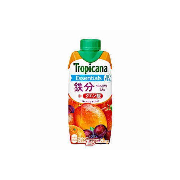 トロピカーナ エッセンシャルズ 鉄分 キリン 330ml LLスリムプリズマ 12本入 btobdaihei