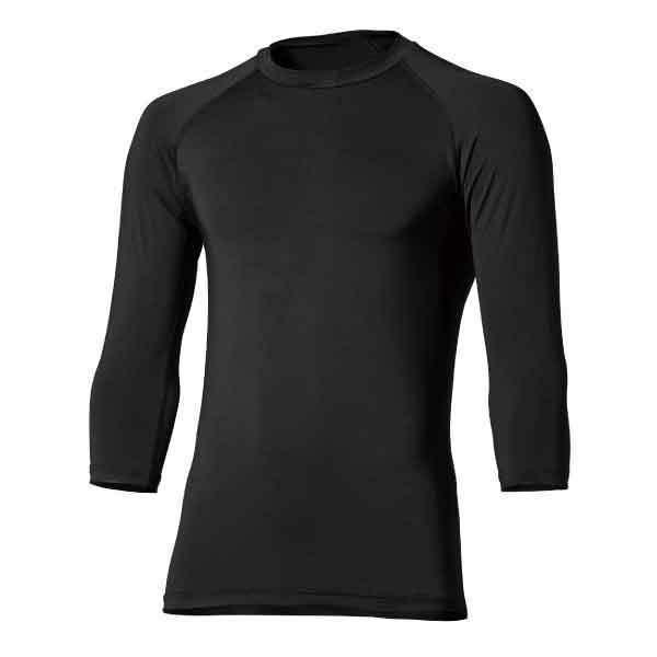 おたふく手袋JW-629BT冷感・消臭パワーストレッチ7分袖クルーネックシャツ