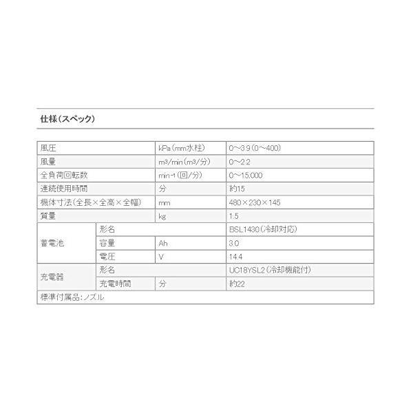 HiKOKI(旧日立工機) 14.4V コードレスブロワー 充電式 風量調整可 蓄電池・充電器別売り RB14DSL(NN)本体のみ