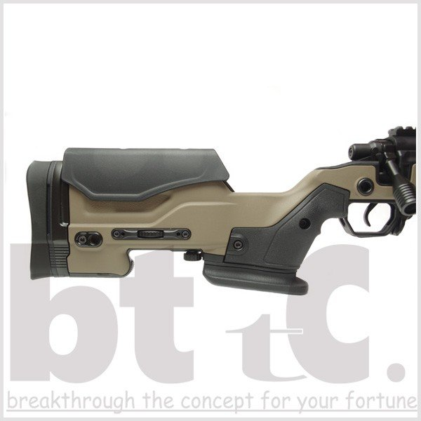 エアガン サバイバルゲーム ActionArmy AAC T10(tactical10) エアーコッキングライフル FDE ミリタリー|bttc|06