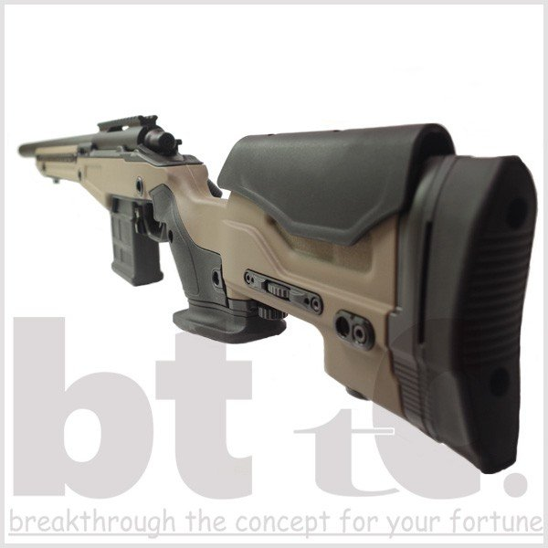 エアガン サバイバルゲーム ActionArmy AAC T10(tactical10) エアーコッキングライフル FDE ミリタリー|bttc|07