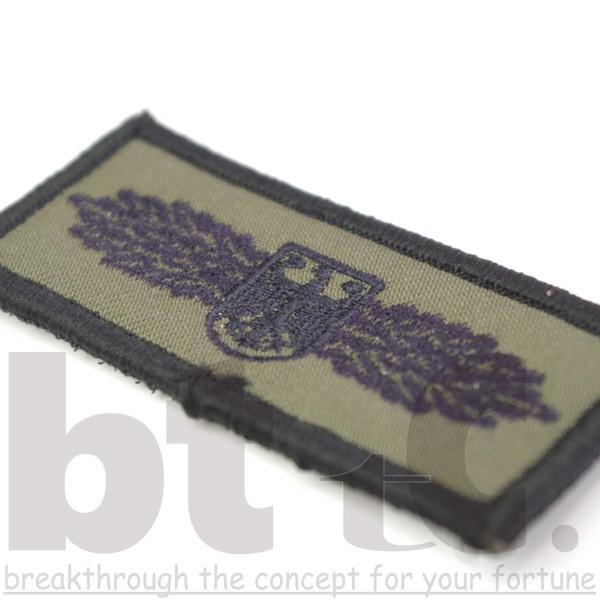 刺繍パッチ日本製 2枚セットワッペン GSG9徽章 きしょう カーキ bttcオリジナル メール便送料無料|bttc|03