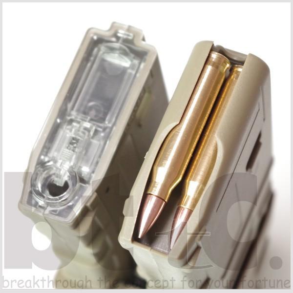 【CONRAD】M4/M16用 リブデザイン エレクトリックダブルマガジン 電動巻き上げ式ダミーカート付 TAN bttc 03