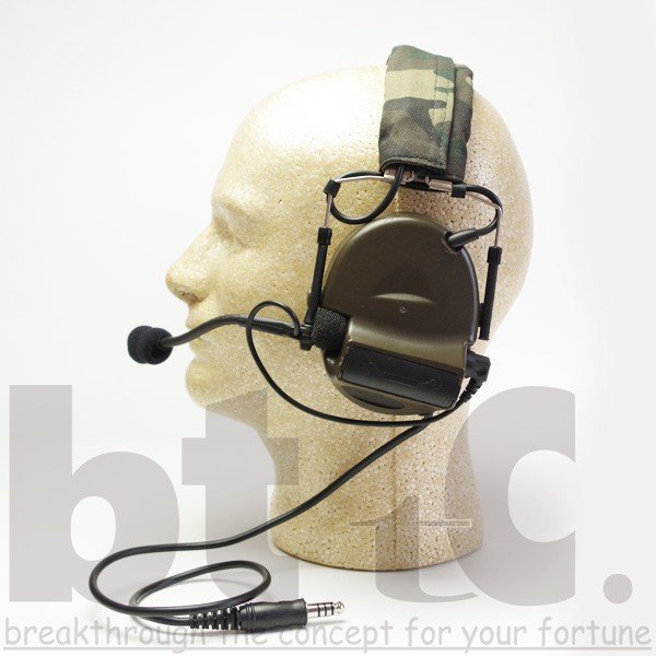 Z-Tactical Z041 ComtacIIタクティカルヘッドセット FG|bttc|05