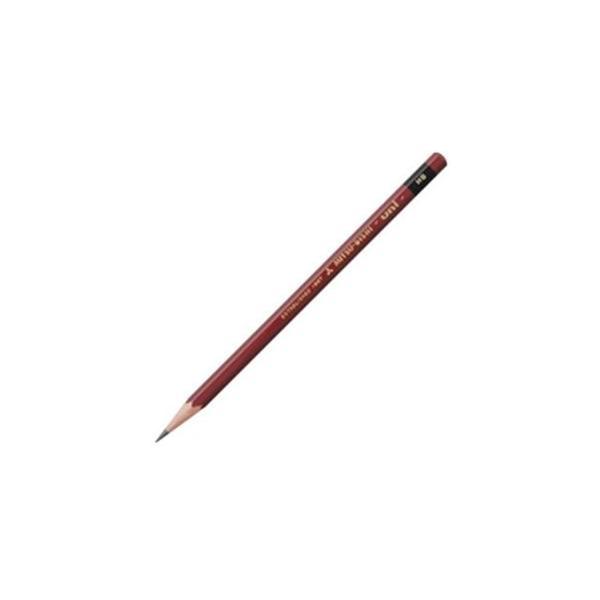 (まとめ)三菱鉛筆 ユニ鉛筆 UHB HB 12本+消しゴム1個 〔×3セット〕