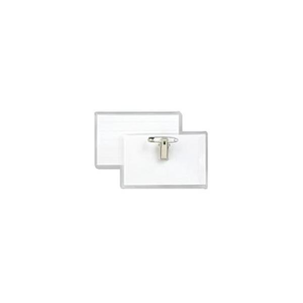 (まとめ)ジョインテックス 名刺型ハード名札 再生PET 50枚 B017J-50〔×2セット〕