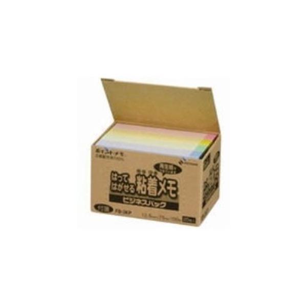 (まとめ)ニチバン ポイントメモ再生紙 FB-3KP パステル〔×5セット〕