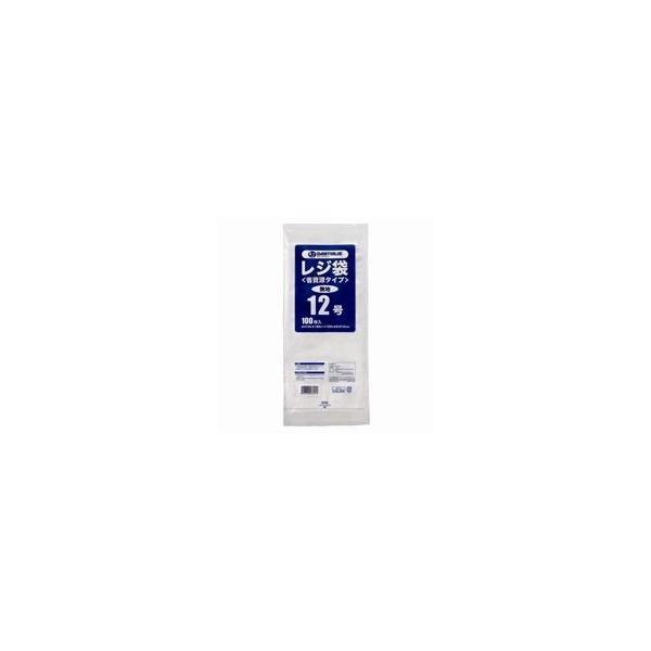 (まとめ)ジョインテックス レジ袋(省資源タイプ)No.12 100枚 B712J〔×40セット〕