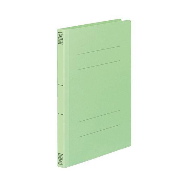 (まとめ) コクヨ フラットファイルV(樹脂製とじ具) B5タテ 150枚収容 背幅18mm 緑 フ-V11G 1パック(10冊) 〔×5セット〕