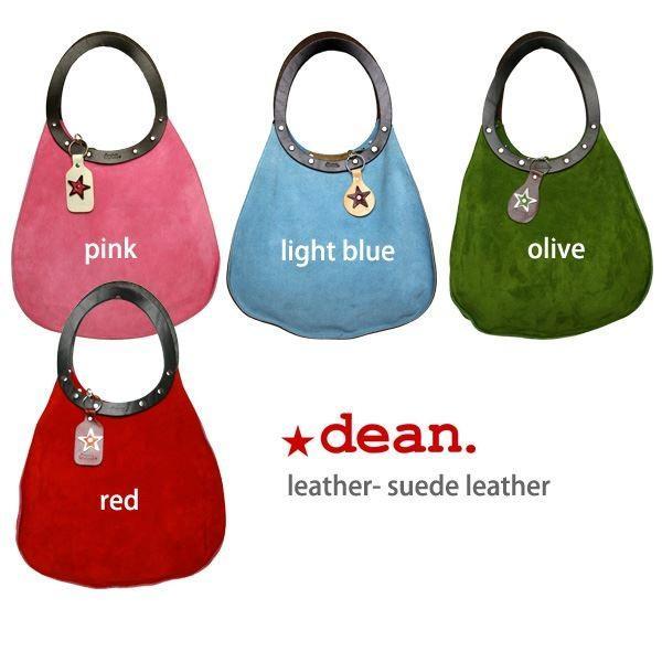 dean(ディーン) machine stitch tear-drop ショルダーバッグ ピンク