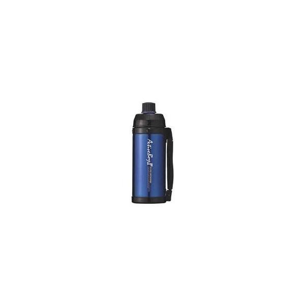 魔法瓶構造 スポーツボトル/水筒 〔保冷専用 ブルー〕 1L 直飲みタイプ ハンドル付き 『アクティブボーイ2』