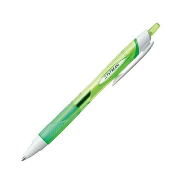 (まとめ) 三菱鉛筆 油性ボールペンジェットストリーム 0.7mm 黒 (軸色 緑) SXN15007.6 1本 〔×30セット〕