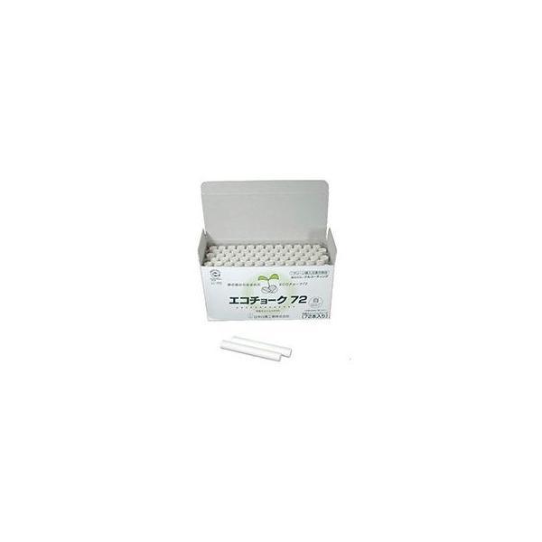 (まとめ) 日本白墨 エコチョーク72 白ECO-1 1箱(72本) 〔×10セット〕