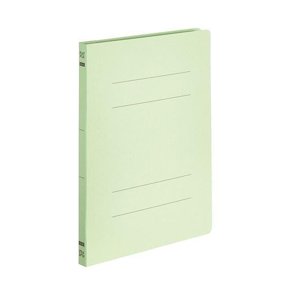 (まとめ)TANOSEEフラットファイルE(エコノミー) B5タテ 150枚収容 背幅18mm グリーン 1パック(10冊) 〔×10セット〕