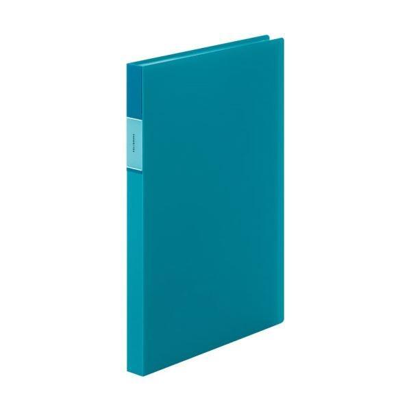 (まとめ)キングジム FAVORITESクリアーファイル(透明) A4タテ 40ポケット 背幅24mm 青 FV166TWアオ 1冊 〔×10セット〕