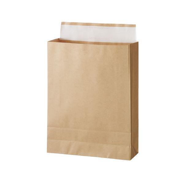 (まとめ)スーパーバッグ 宅配袋 未晒 大 100枚入〔×5セット〕